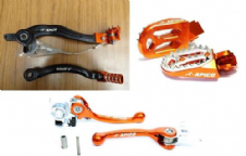 New KTM SXF 450 09-12 Rear Brake Pedal/Gear/Flexi Levers ProBite Footpegs Set